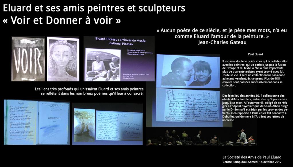 Conférence donnée au Centre Pompidou : Eluard et les peintres