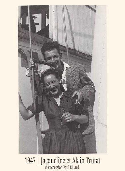 1947-Jacqueline-et-Alain-Trutat-@-succession-Paul-Eluard